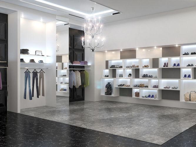 clothing store interior philipp plein 3d model max obj mtl fbx 1