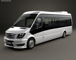 3D Mercedes-Benz Sprinter CUBY City Line Long Bus 2016