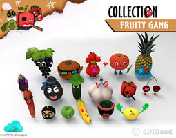 Fruity Gang - Game 3D Animation Ready Character Collection 3D Model