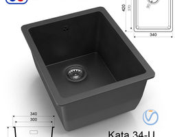3D asset Kitchen sink Omoikiri Kata 34-U - 8