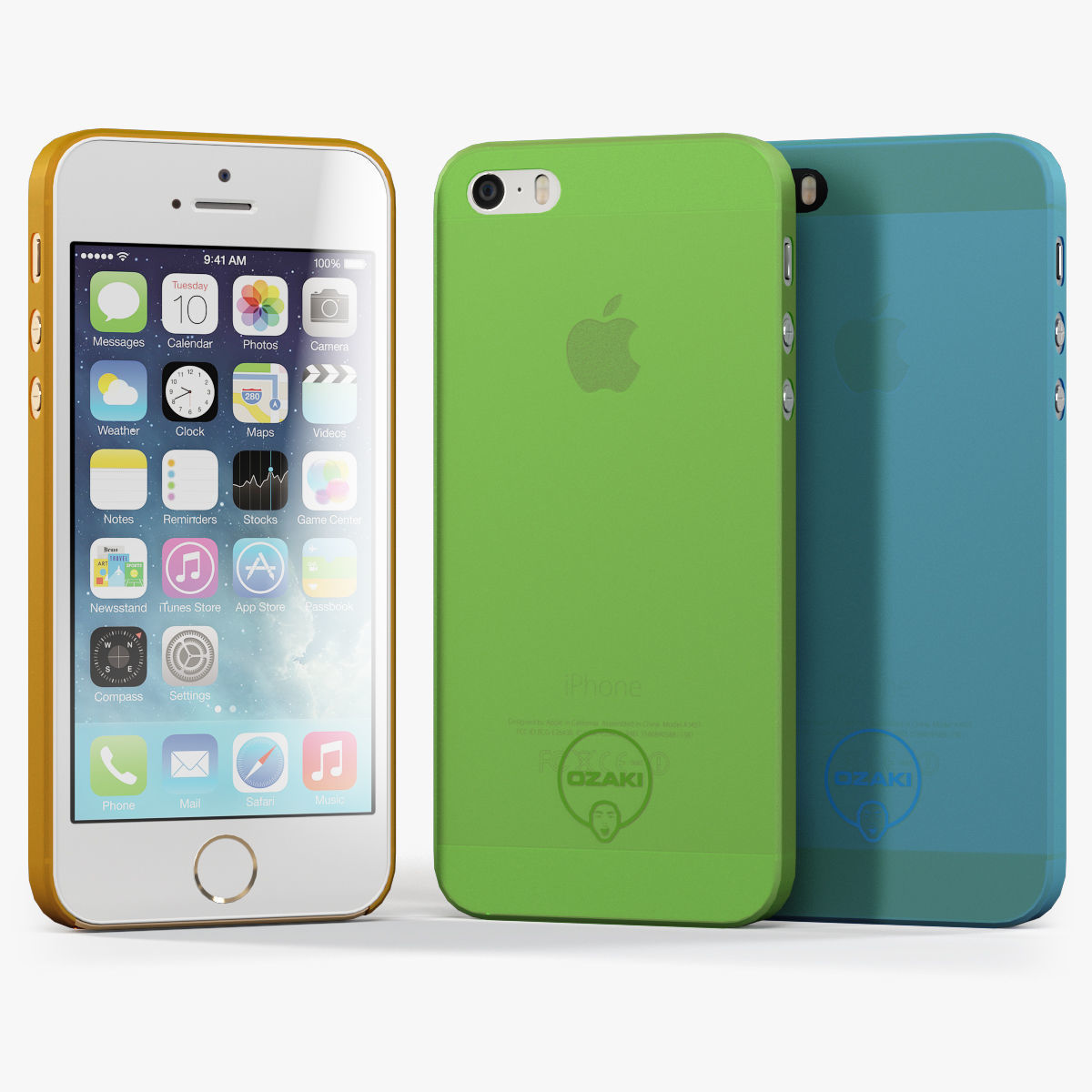 Apple iPhone 5S with Case Ozaki Jelly