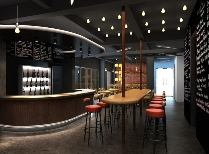 3D Model Bar Interior Scene3D model