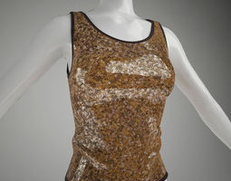 Female Vest 3D Model