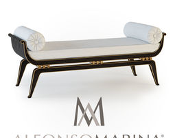 3D model chair Alfonso Marina Ebanista millau Bench