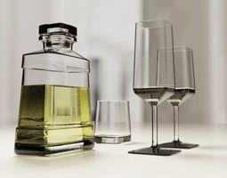 3D asset Glassware set ELY