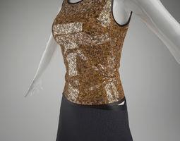 Female Skirt 3D Model