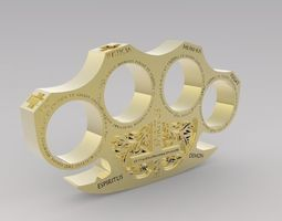 3D print model Holy Brass Knuckles