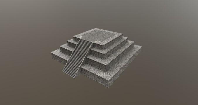 Mayan pyramid ruins