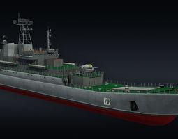 Landing ship LLC Minsk project 775 3D model