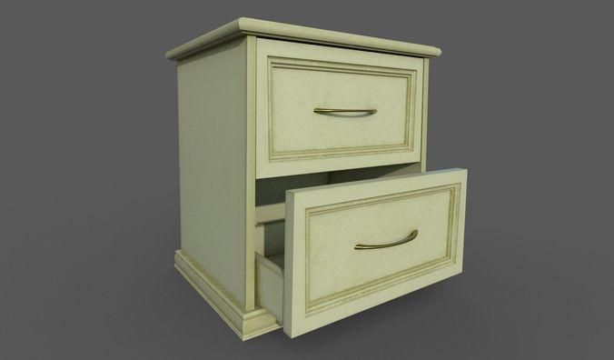 bedside table 3d model fbx dae 1