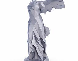 Nika Samothrace Low Poly 3D model