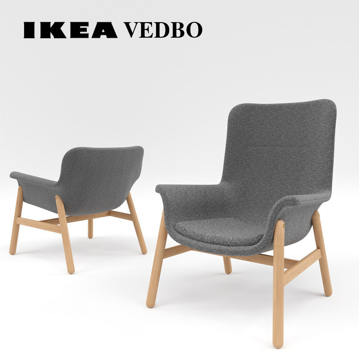 Ikea Vedbo High Back Armchair Model Max Obj Mtl Fbx Mat 1