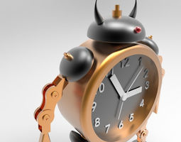 The robot alarm clock 3d model