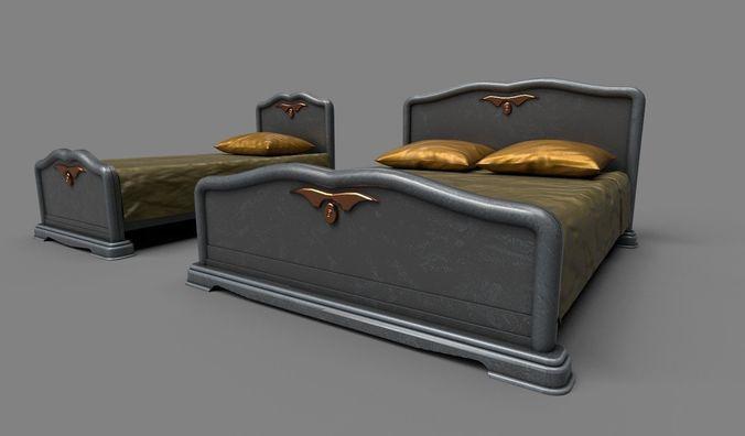 classic beds 3d model fbx dae 1
