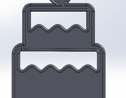 cake Cookie Cutter 3D printable model