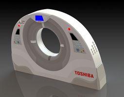 3d model toshiba ct scan machine enclosure design