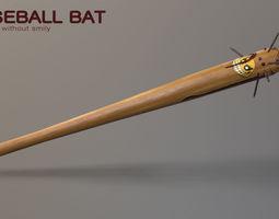 3D asset Fighting Baseball Bat