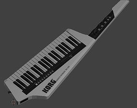 Korg Keytar RK-100 in White 3D