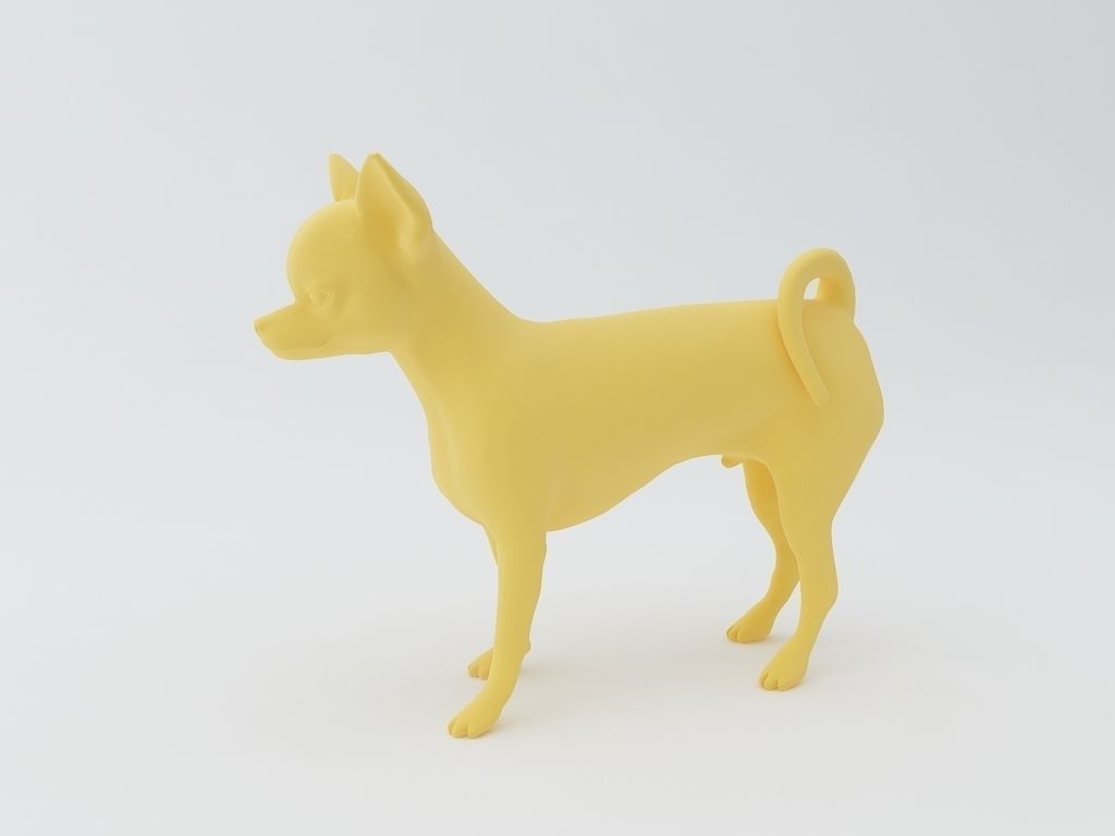 chihuahua dog 3d model 3d model 3d printable stl