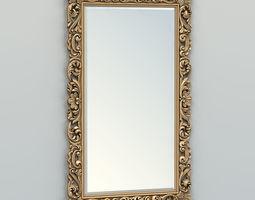 3D model Rectangle mirror frame 013