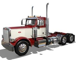 389 Day Cab Semi Truck 3D