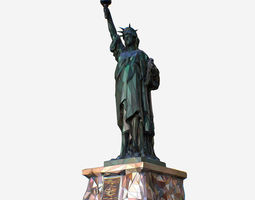 3D asset Low Polygon Art Style Liberty Statue