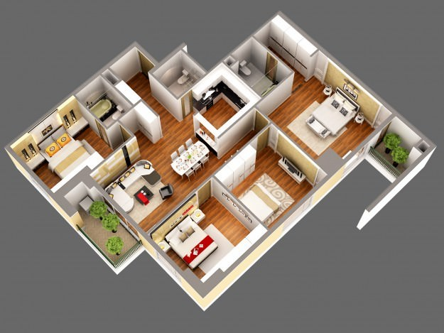 for 3d view of house interior design