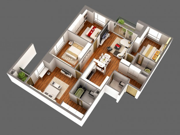 3d model detailed house cutaway view 3d model max for 3d model viewer