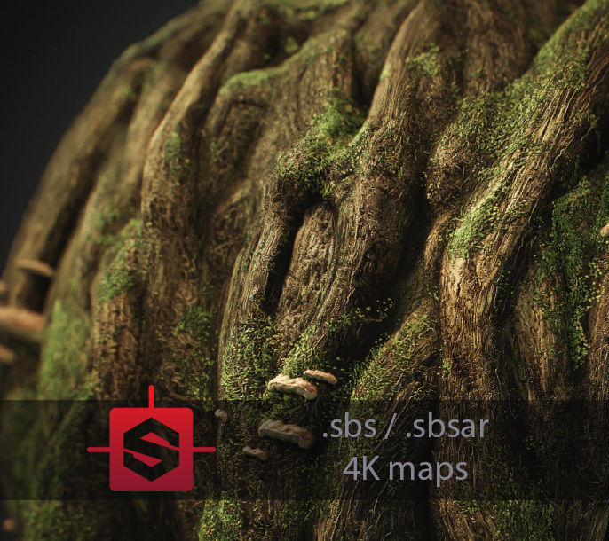 Knotty Tree PBR Tileable Material