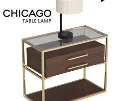 3D asset Chicago Table Lamp