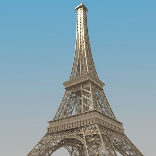 eiffel tower 3d model obj mtl 3ds fbx stl blend dae 1