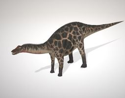 Dicraeosaurus 3D model rigged
