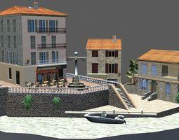 Cityscene Antibes 3D asset