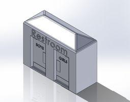 3D printable model Mini Bathroom