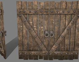 Medieval Door 3D asset VR / AR ready