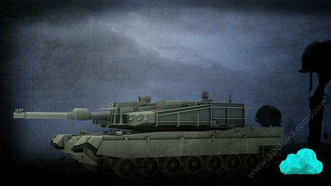 K2 Tank3D model
