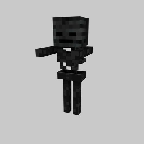 3d Model Minecraft Wither Skeleton Cgtrader