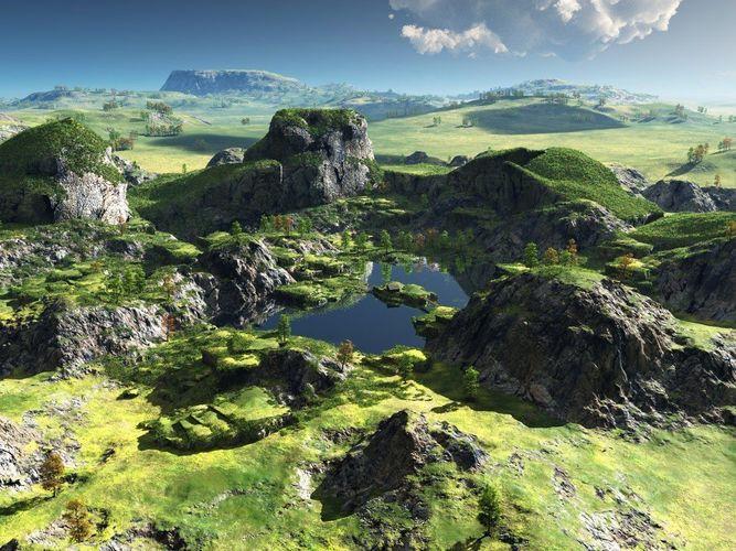green oasis in vue 3d model vue 1