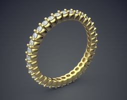 3D print model Original Design Engagement Diamond Ring