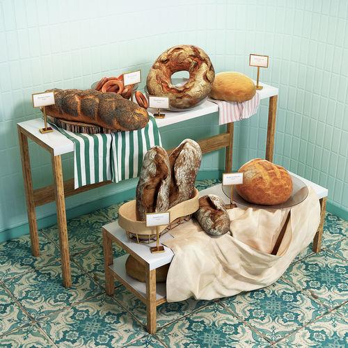 rack with pastries 3d model max obj mtl fbx 1