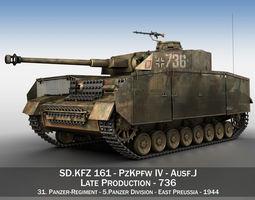 3D PzKpfw IV - Panzer 4 - Ausf J - 736