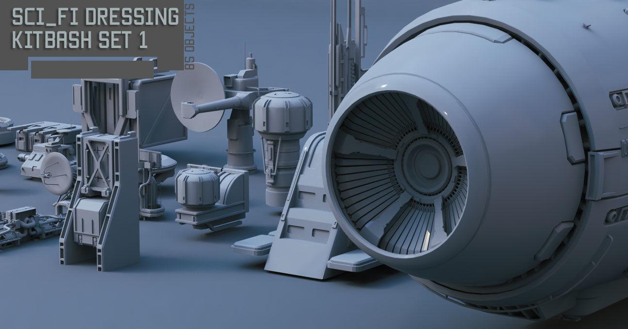 Scifi dressing kitbash set 1
