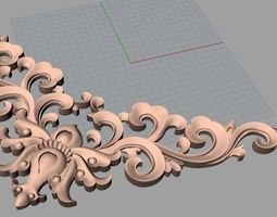 game-ready cnc 3d relief models stl format file used for artcam aspire e431