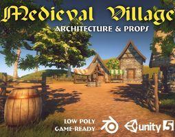 3D asset Medieval Village Pack