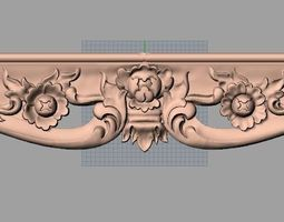 game-ready cnc 3d relief models stl format file used for artcam aspire e466