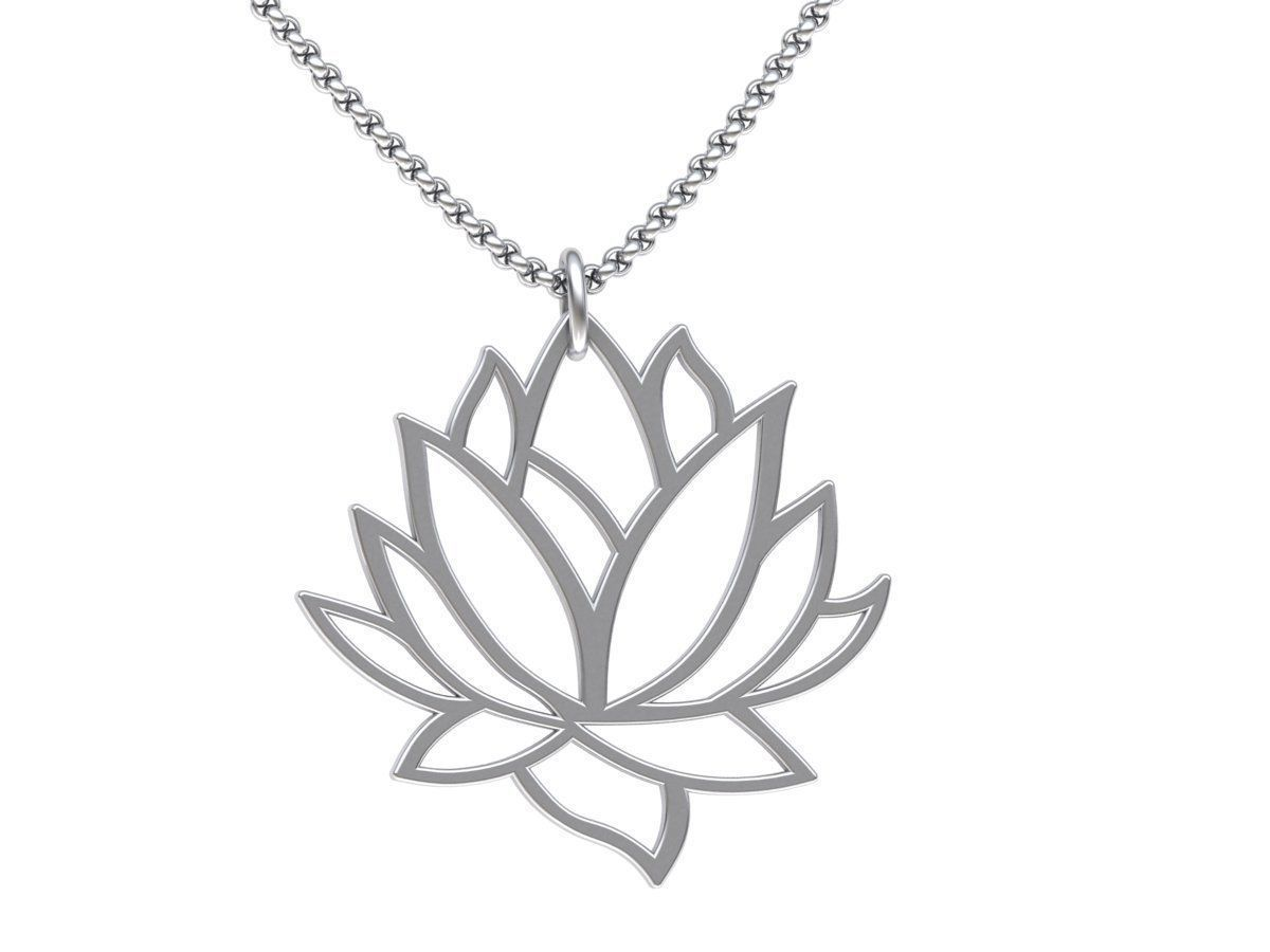 Lotus simply and beauty pendant 3dmodel 0256