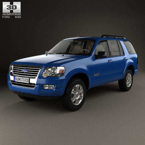 explorer with hq interior 2006 3d model max obj mtl 3ds fbx c4d lwo lw lws 1