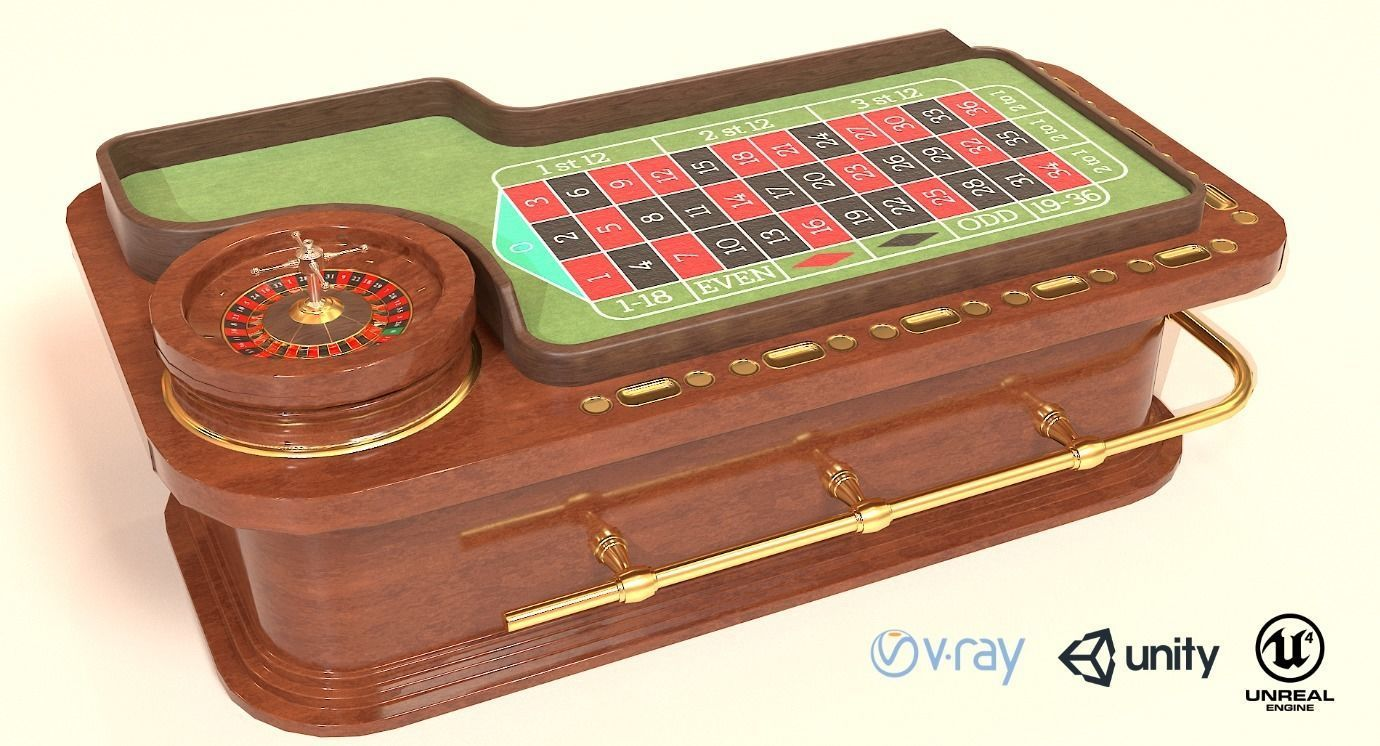 Casino Roulette Game Table