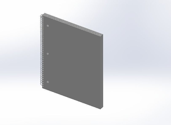 micro perforated college notebook 3d model sldprt sldasm slddrw 1