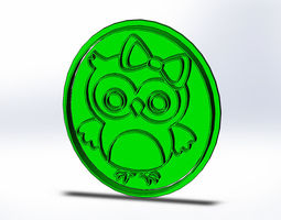 Owl Cookie Cutter 3D